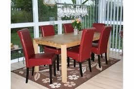 6 x stühle leder rot dunkle beine esszimmer stuhlset modern