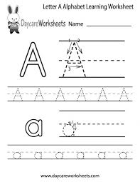 Preschool Alphabet Worksheets Free For Preschoolers Within Learning The