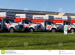 Lafayette - Circa April 2018: U-Haul Moving Truck Rental Location. U ...