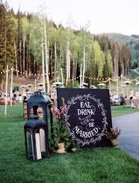 Wedding Chalboard Ideas Rustic Party