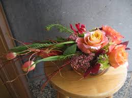 Everyday Arrangement Inspired By A Flaming Comet Anna Held Flower Shop