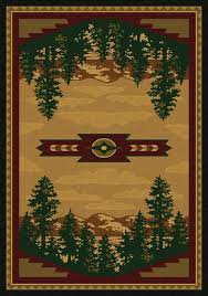 Awesome Southwestern Area Rugs Western Cabin Throughout Attractive