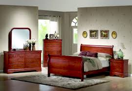 louis philippe cherry sleigh bed traditional bedroom furniture set