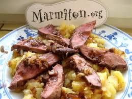 photo de recette magret de canard aux pommes marmiton