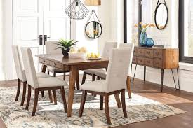 The Centiar Two Tone Brown 8 Pc Rectangular Dining Room Table 6