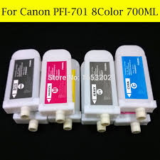 8 Color Set Empty Refill Ink Cartridge For Canon PFI701 IPF8000s IPF8010s Printer With