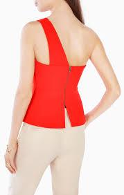 one shoulder peplum top