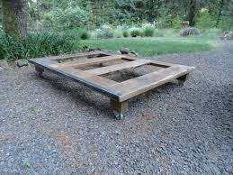 How To Make A Platform Bed From Wooden Pallets by Platform Bed Frame Pallets Frame Decorations