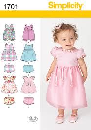 simplicity 1701 babies u0027 dress and separates