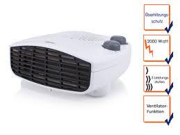 elektroschnellheizer mit thermostat ventilator heizlüfter für bad flurheizung wish