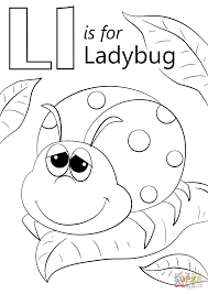 Letter L Coloring Pages Is For Ladybug Page Free Printable Book