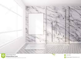 100 Marble Walls Modern Bathroom And Poster Shower Stock