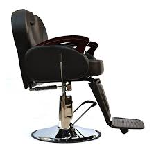 Reclining Salon Chair Uk by Wooden Arm Salon Barber Chair Hydraulic Reclining Hairdressing