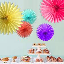 Decorative Wedding Paper Crafts 15 20 25 30CM 1PCS Flower Origami Fan