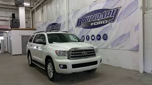 2014 Toyota Highlander Captains Chairs by Preowned 2014 Toyota Sequoia Platinum W Dvd Quad Captain Chairs