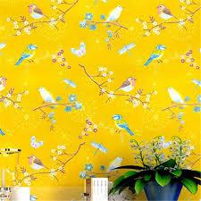 wellyu amerikanischen tapete garten blumen und kleine frische blumen tapete blau gelb einfache moderne wohnzimmer wand schlafzimmer