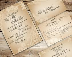 Cheap Rustic Vintage Wedding Invitations