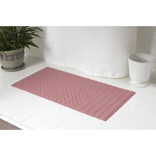 "Carnation Home Fashions Rubber Shower Mat - Rose, 16""x 28"""