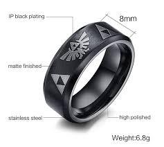 Zelda Triforce Lamp Uk by Stainless Steel The Legend Of Zelda Triforce Ring For Men Black