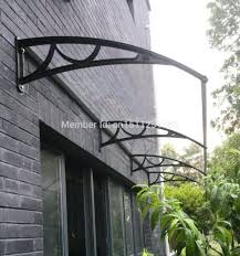 French Door Awning Polycarbonate Canopy Diy Vordach Entry