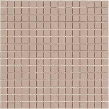 lyric unglazed porcelain rectified edge mosaic tile in almond