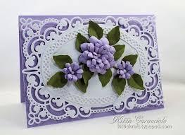 Handmade Paper Flowers With Die Cuts