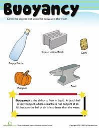 Materials Sink Or Float by What Is Buoyancy Worksheets And Teaching Science