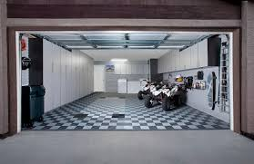 white long garage cabinet ideas with black and white floor diy