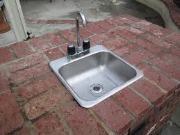 outdoor kitchen sinks and faucets backyard railing stairs and