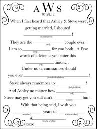 Free Wedding Madlibs