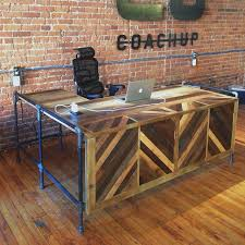New Antiquity Reclaimed Barn and Pallet Wood Reception Desk