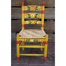 Vintage Mexican Hand Painted Chairhad One Of These When I Was Little