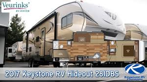 5th Wheel Campers With Bunk Beds by For Sale 2017 Keystone Rv Hideout 281dbs 5th Wheel Review Grand