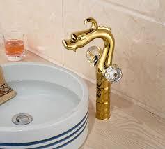goldene messing drachen arbeitsplatte barhtoom waschbecken wasserhahn kristall griffe basin mixer wasserhahn wasserhahn wasserhähne