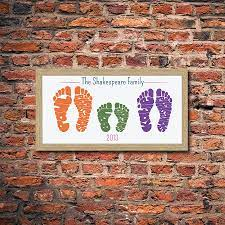 104 Small Footprint Family Personalised Foot Print By Name Art Notonthehighstreet Com