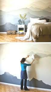 malen sie berge diy schlafzimmerdekoration