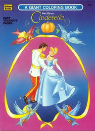 Walt Disneys Cinderella Coloring Book 1993 A Giant By Golden Books