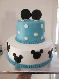 Mickey Mouse cake baby shower I like colors for Jr Birthday
