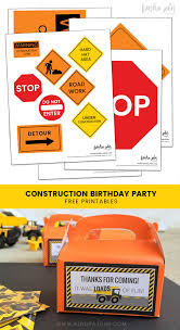99 Truck Birthday Party Simple Construction Ideas Plus Free Printables