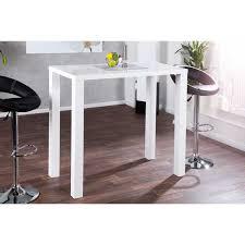 table haute cuisine haute de bar blanc laqué genf d un design parfait et solide