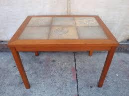 Tile Side Table Danish Modern Teak Amp Slate