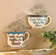 Kitchen Wall Art Decor Glass A Cup Coffe