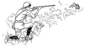 Hunting Shoot At Rabbit Coloring Pages