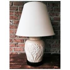 Frederick Cooper Antique Table Lamps by Vntg Wildwood Asian Crackle Glaze Iris Porcelain Table Lamp