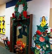 Christmas Classroom Door Decorations Elf by Teacher Made Fireplace For Our Classroom This Christmas