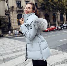 Best Quality New Winter Women Clothes 2015 Fashion Coats Long Down Thicken Slim Cotton Padded Jacket Coat Hooded Fur Collar Parkas At