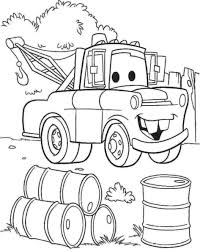 Mater Coloring Page Lightning Mcqueen And Tow