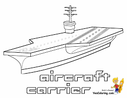 Beginners Coloring Of Navy Carrier At YesColoring