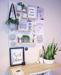 Office Workspace Study Organisation Kmart Decor Minimalist Scandinavian Bedroom Nook Peg Boards Shelf Wall