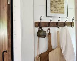 Farmhouse Coat Rack Decor Vintage Hooks Storage And Organization Fixer Upper